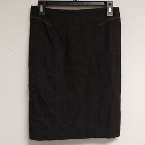 Rebecca Taylor Charcoal Pencil Skirt
